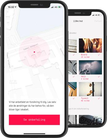 Vi anbefaler din dækning igennem app'en, når du opretter dig.