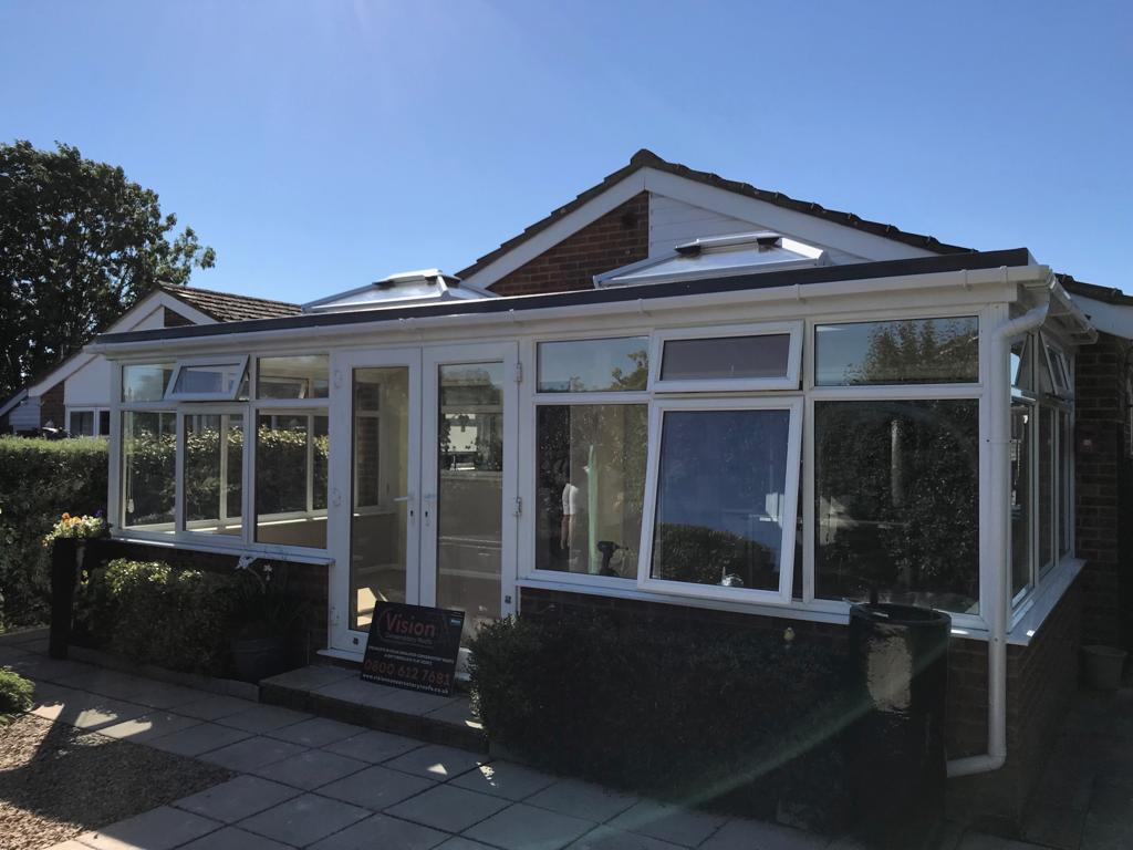 Exterior shot of a conservatory