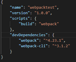 The contents of package.json