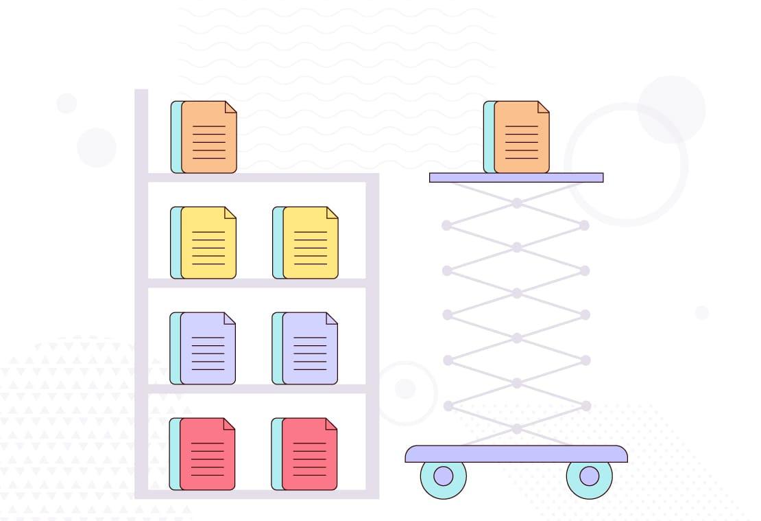 A data storage illustration