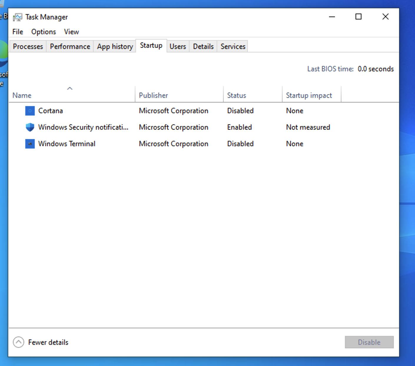 Windows 10 Screenshot of Task Manager