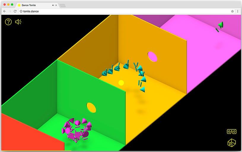 A screenshot of the tonite.dance web app