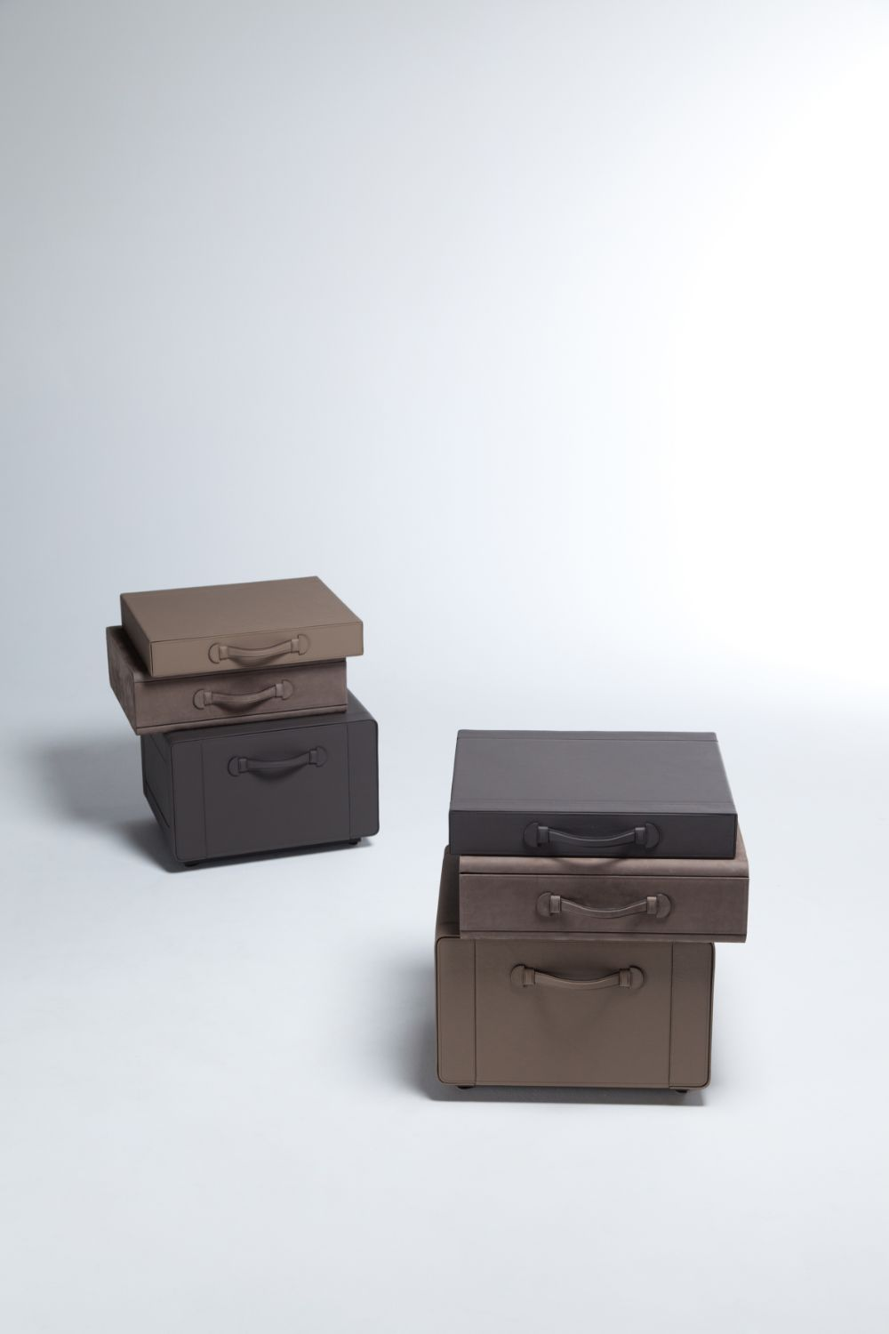 Bedside Table of Briefcases