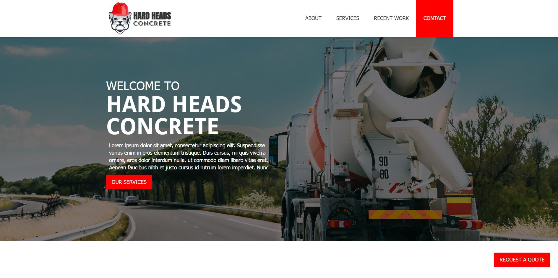 hard heads concrete example
