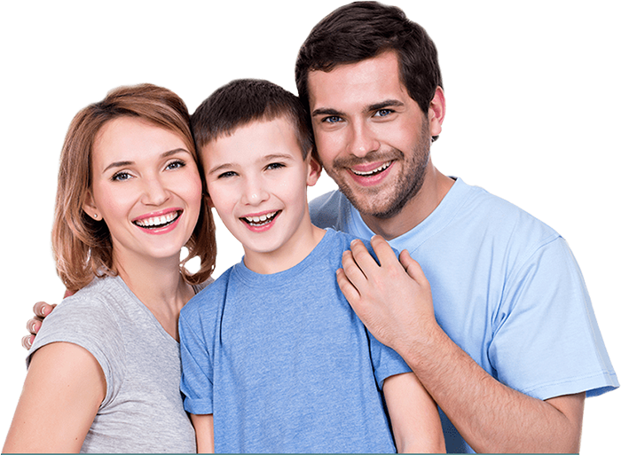 Satisfied family of sinus patients
