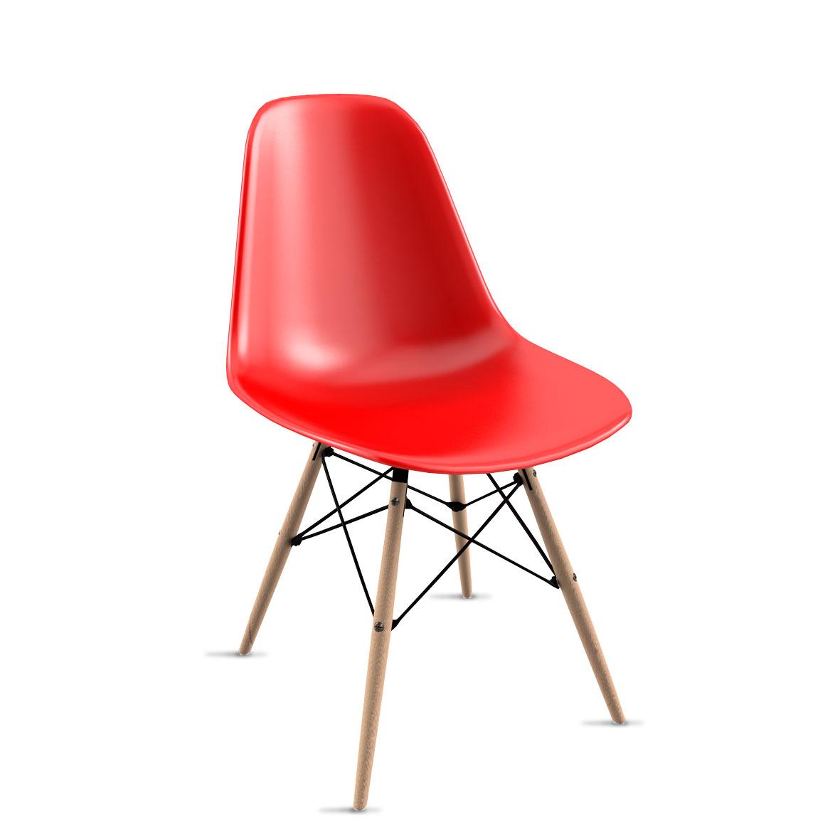 Silla Eames Rojo