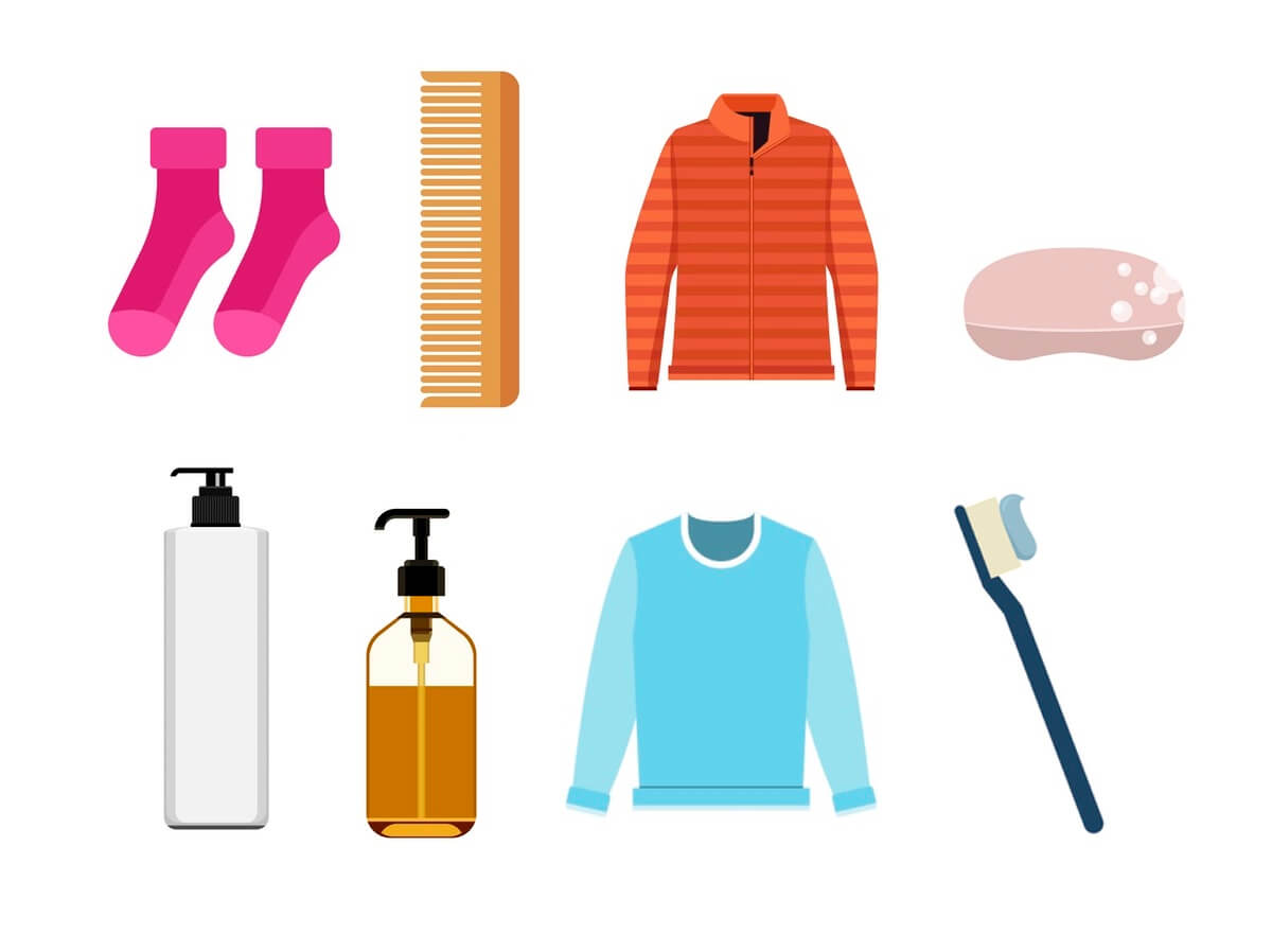 clothing and toiletry icon