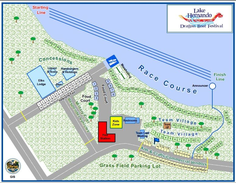 Photo of the Dragon Boat Race Course map