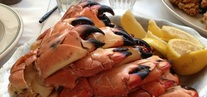Photo of stone crab claws