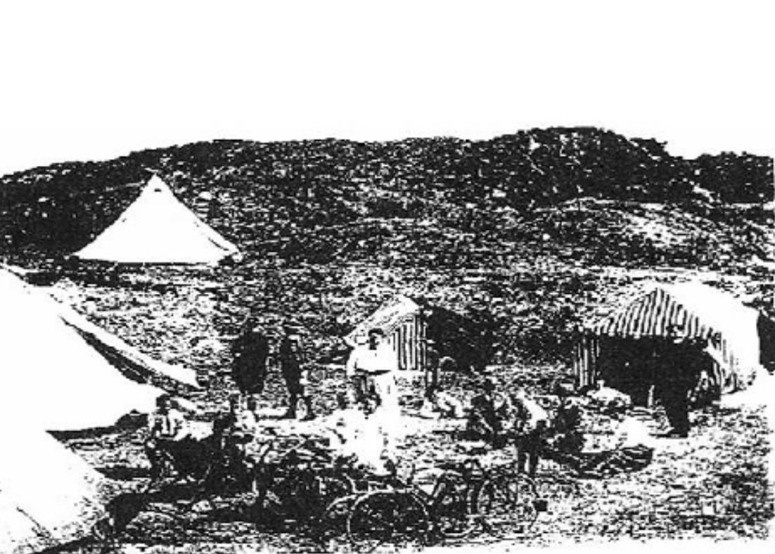 De eerste tenten