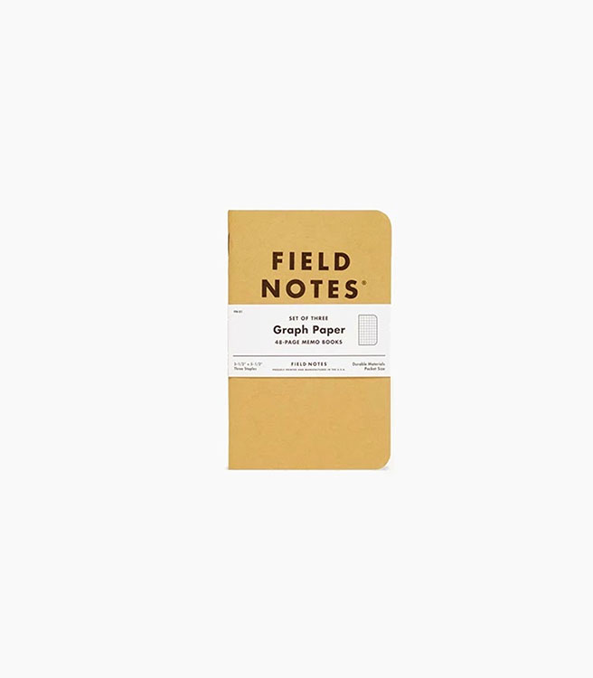 Field Notes Original Kraft Graph 3 pack - Kraft