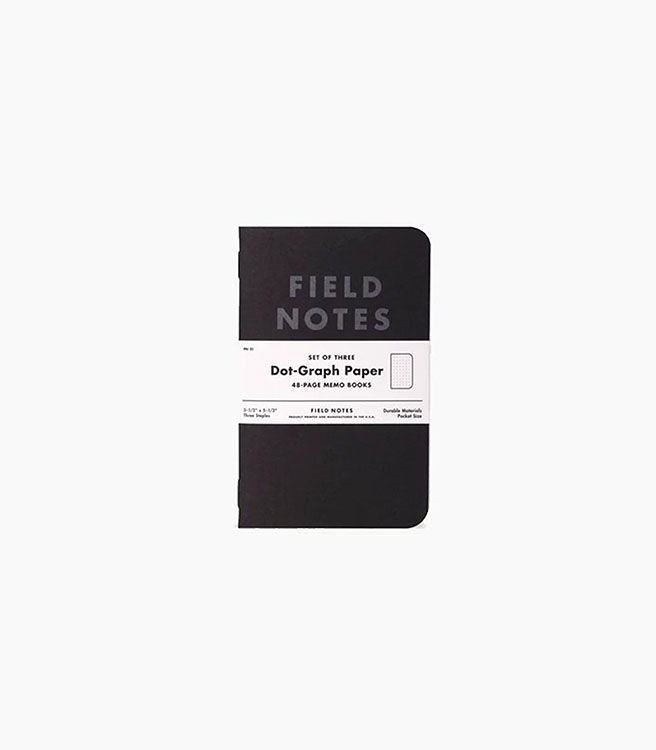 Field Notes Pitch Black Memo Books 3 pack - Black