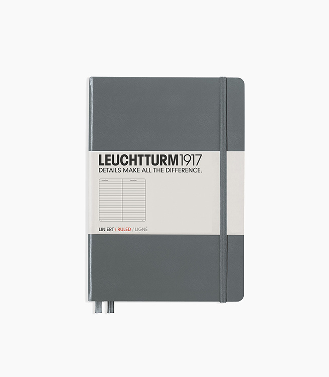Leuchtturm 1917 A5 Medium Hardcover Notebook - Anthracite