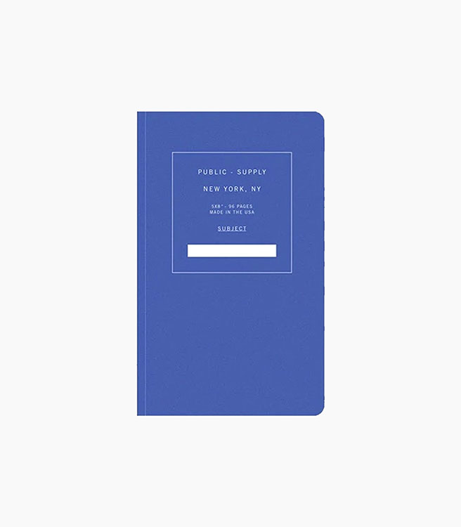 """Public Supply 5x8"""" Notebook Soft Cover - Blue 02"""