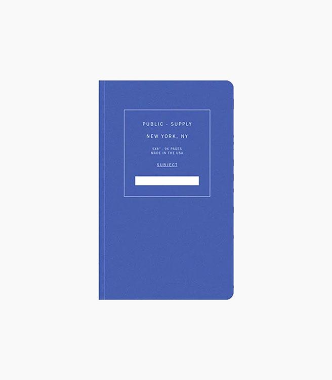 Public Supply Notebook - Single - Blue 02