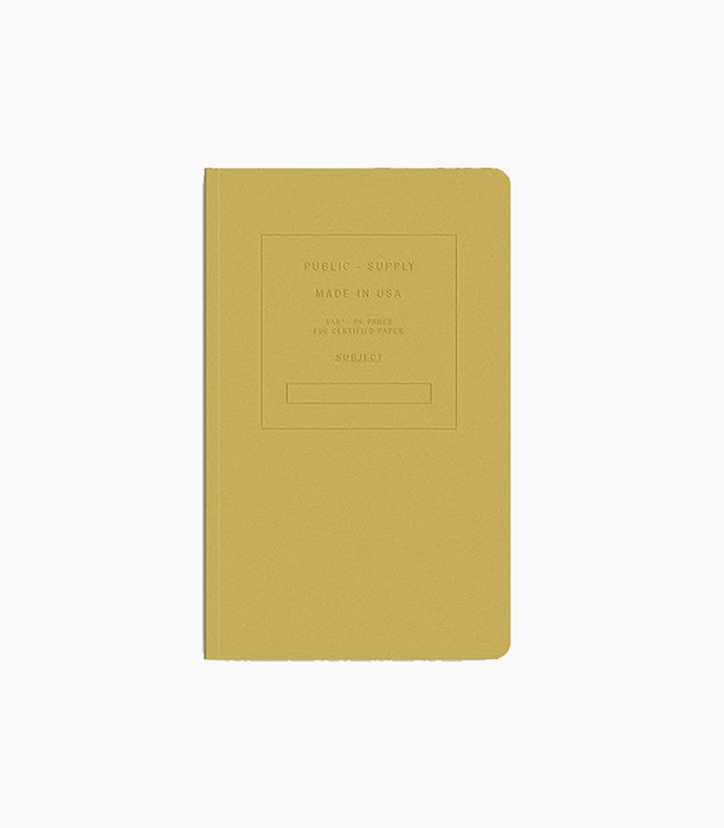 Public Supply Notebook - Single 5x8 Embossed - Fuse
