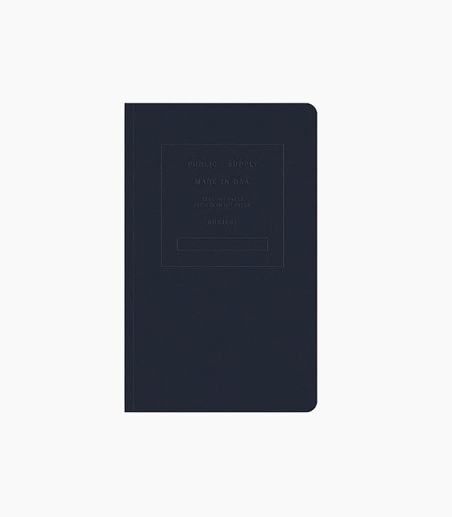 """Public Supply 5x8"""" Soft Cover Notebook Embossed - Night Shift"""