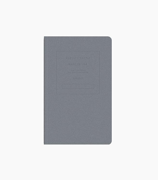 Public Supply Notebook - Single 5x8 Embossed - Steel
