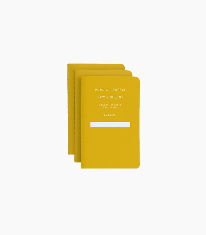 Public Supply 3x5 in. Notebook Set - 3 pack - Yellow 01