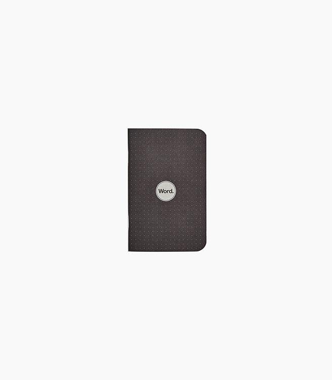 Word. Dot Grid Notebooks 3 pack - Black