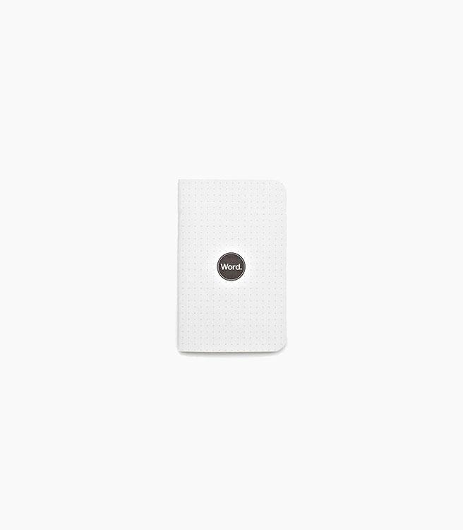 Word. Dot Grid Notebooks 3 pack - White