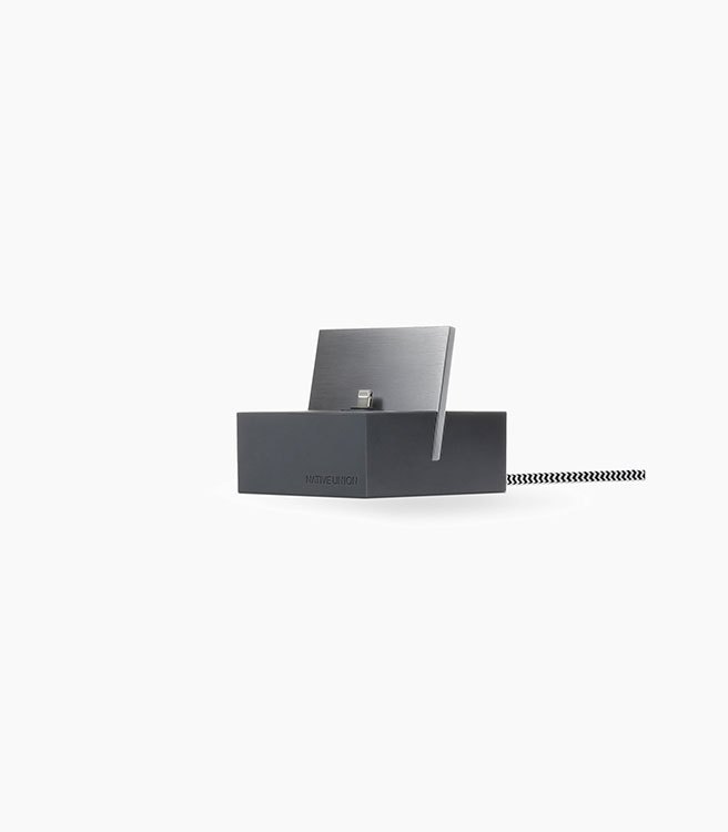 Native Union iPhone Dock Silicon - Slate