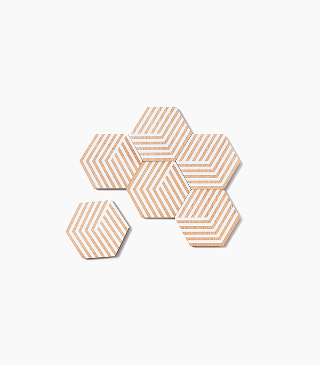 Areaware Table Tiles Optic - White