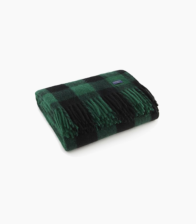 Faribault Woolen Mill Co. Buffalo Check Throw - Green/Black