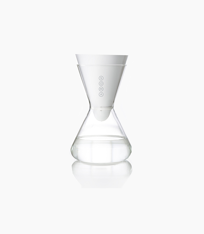 Soma 6-Cup Glass Carafe - White