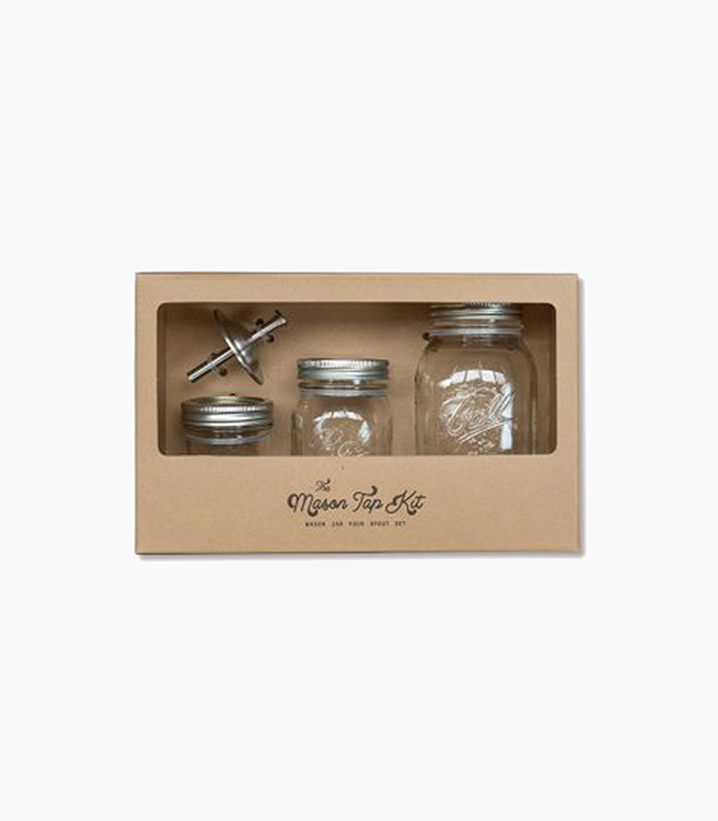 W&P Design The Mason Tap Kit - Glass Stainless Steel