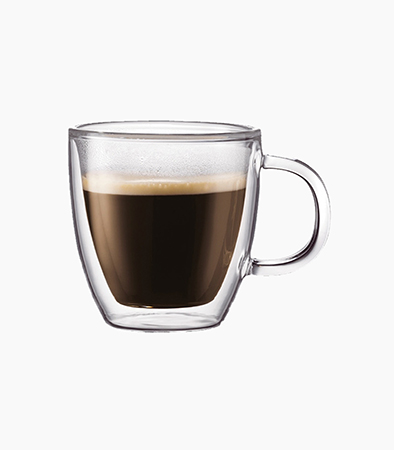 Bodum Bistro 2pcs Double Walled Mug 15oz - Glass