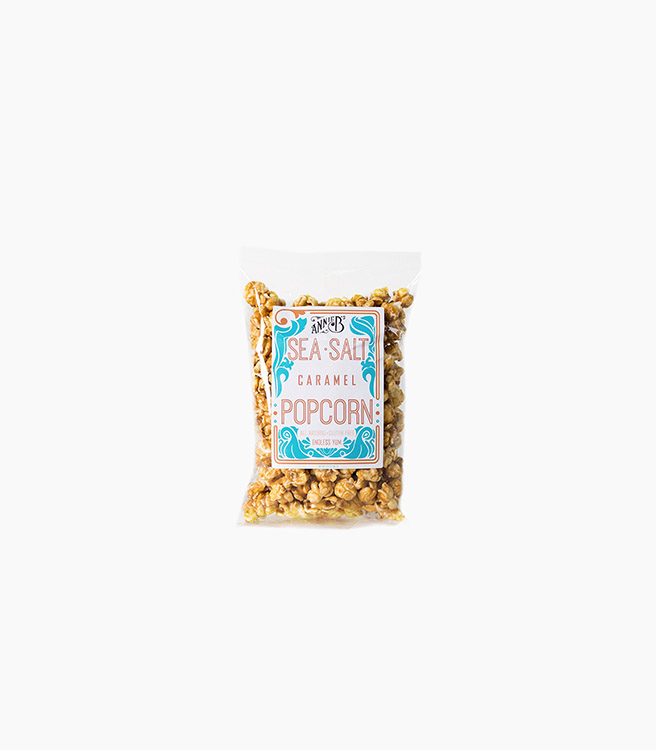 Annie B Popcorn Bag - Small - Sea Salt Caramel Popcorn