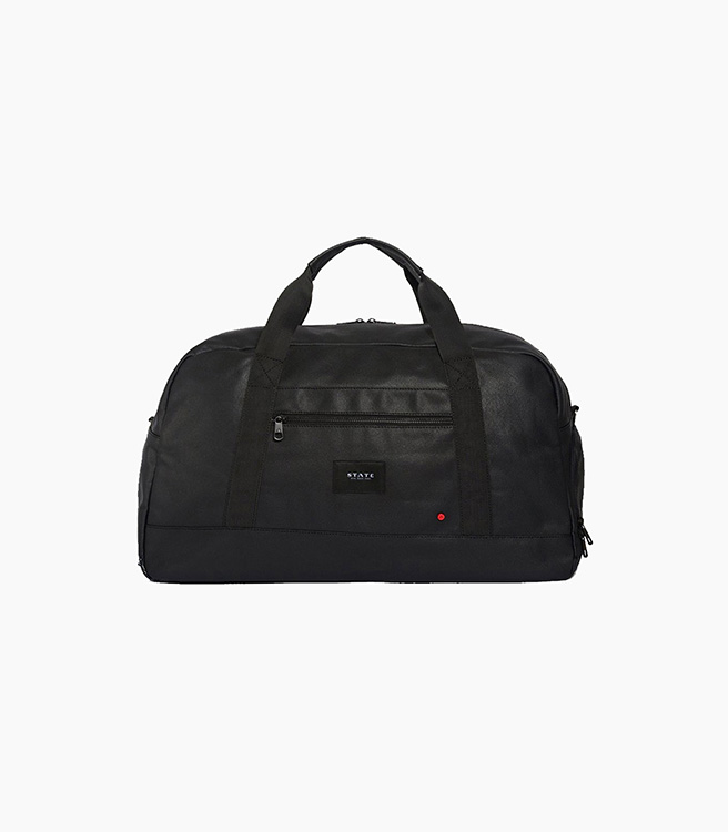 STATE Bags Franklin Duffel Coated Canvas - Black