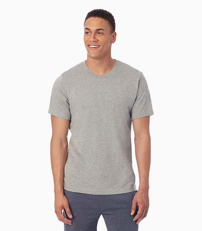Alternative Apparel Basic Men's Crew T-Shirt - Heather Grey