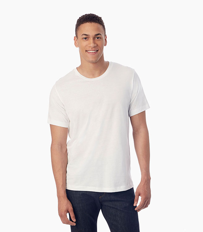 Alternative Apparel Basic Men's Crew T-Shirt - White