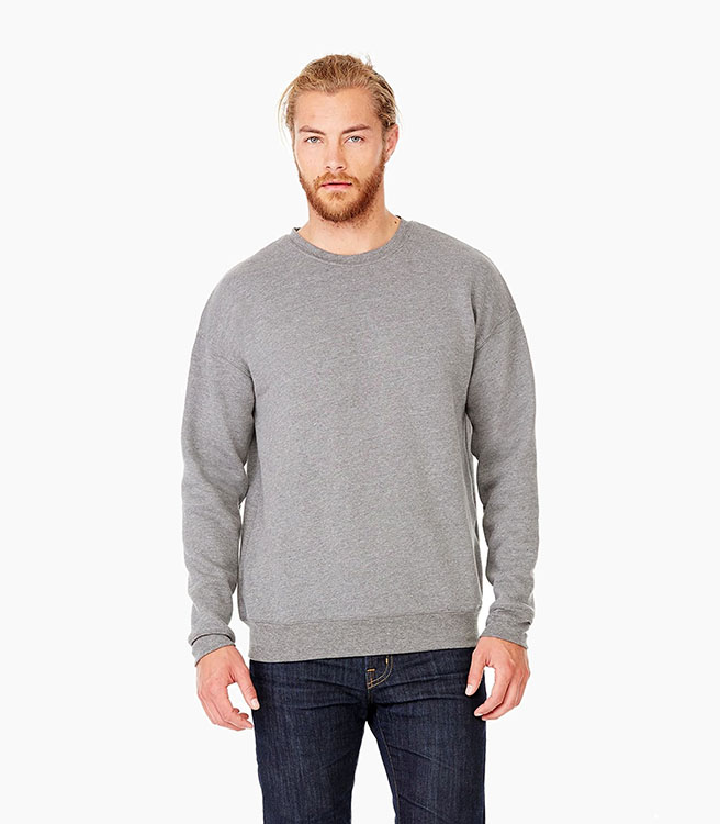 Bella + Canvas Unisex Sponge Fleece Drop Shoulder Sweatshirt - Deep Heather