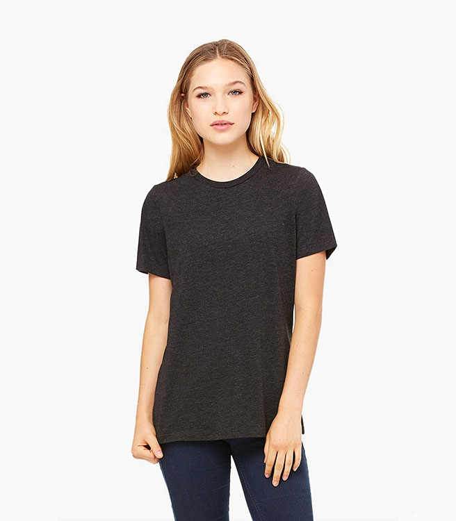 Bella + Canvas Women's Relaxed Jersey Short Sleeve Tee - Vintage Black