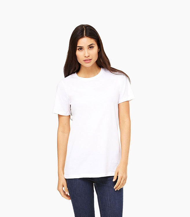 Bella + Canvas Women's Relaxed Jersey Short Sleeve Tee - White