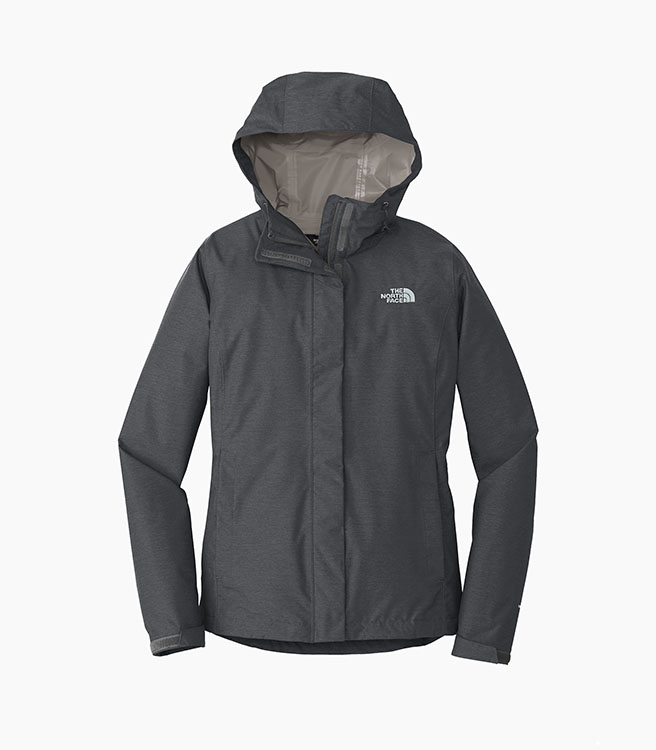 The North Face Ladies DryVent Rain Jacket - Dark Grey Heather