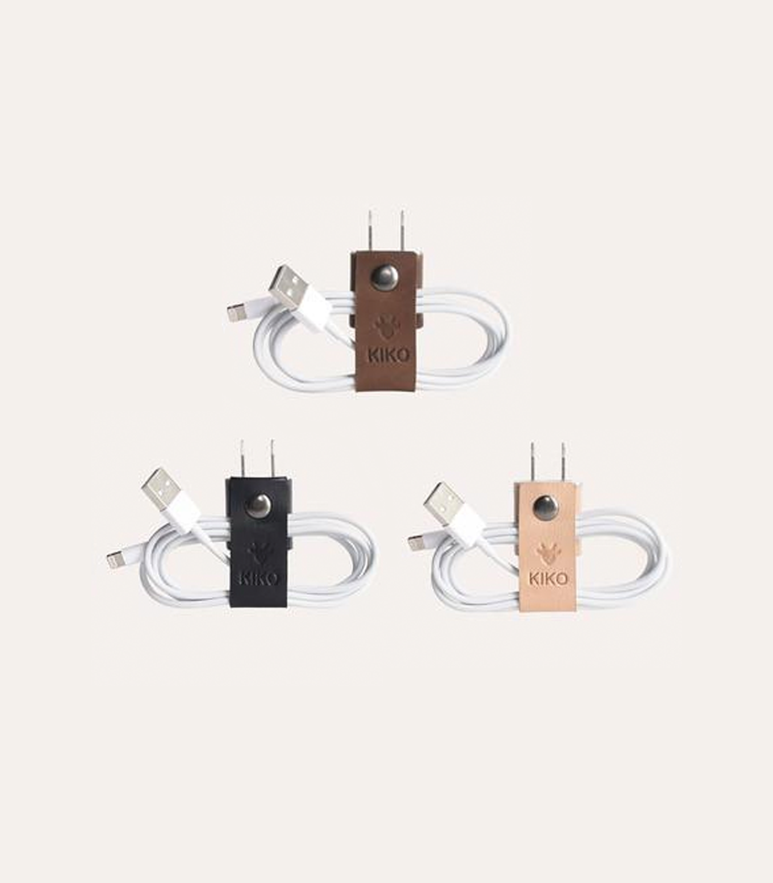 Kiko Leather Cord Organizer