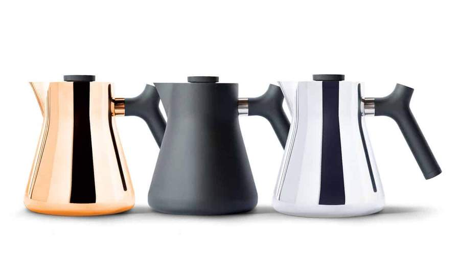 Fellow Raven Stovetop Tea Kettle in colors