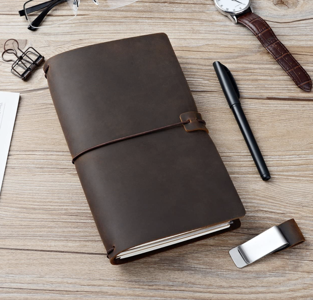 Newestor Refillable Leather Journal Notebook