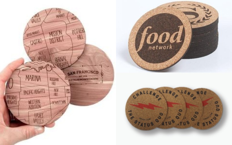 Laser-etched Wood Coasters of Google Campus Map