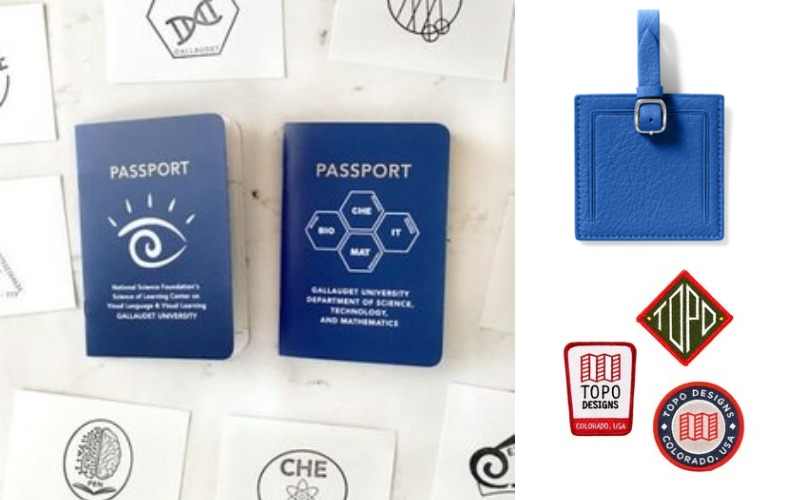 Patch - Passport Book - Genuine Leather Luggage Tag