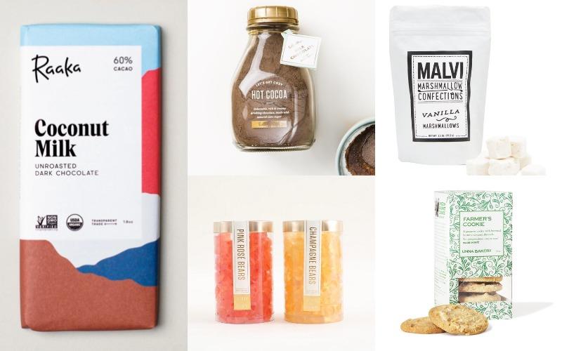 Snack Around the Clock. Lolli & Pop Hot Cocoa, Malvi Marshmallows, Unna Bakery Cookies, Raaka Chocolate Bar, Lolli & Pop Bear Tubes