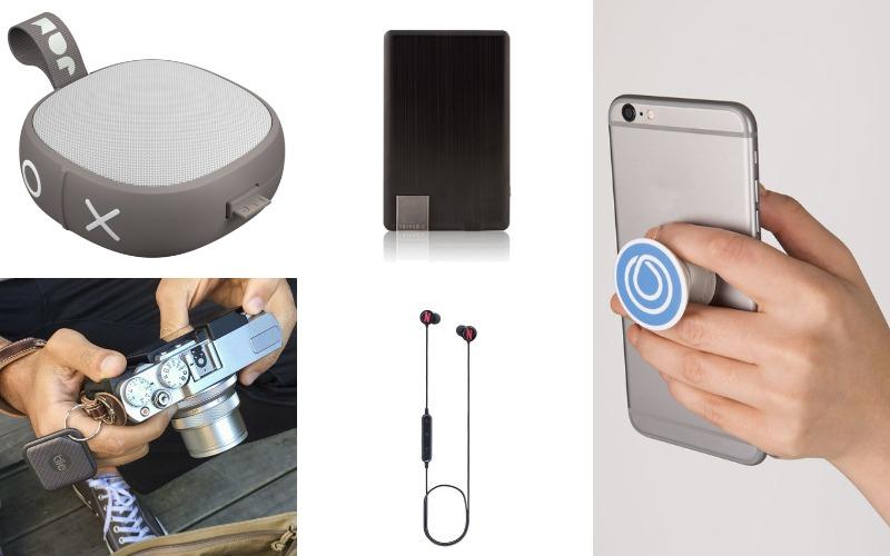 Jam Bluetooth Speakers, Triple C Ultrathin Charger, Tile Sport Bluetooth Tracker, Wireless Bluetooth Earbuds,  PopSocket