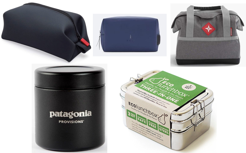 KOBYWaterproof Dopp Kit, Rains Dopp Kit, Bare Bones Lunch Cooler, Miir 16 oz Canister, Eco Lunchbox