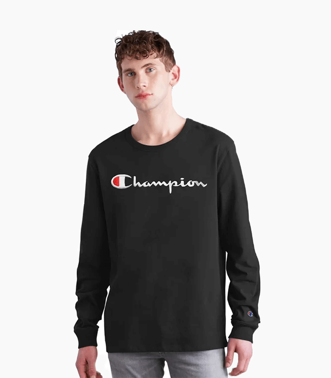 Champion Long-Sleeve Tee Script Logo