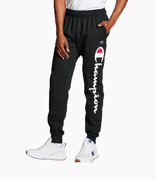 Champion Powerblend Fleece Joggers Vertical Script Logo
