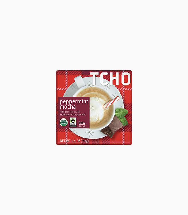 "TCHO MILK CHOCOLATE ""PEPPERMINT MOCHA"" BAR"